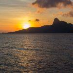 sunset on the beach of con dao island