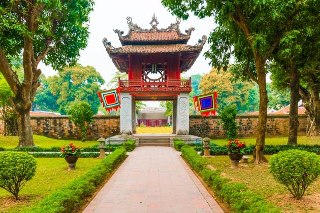 temple of literature a must attraction in hanoi honeymoon