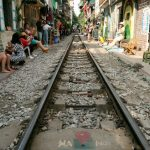 the life beside the track in hanoi train street