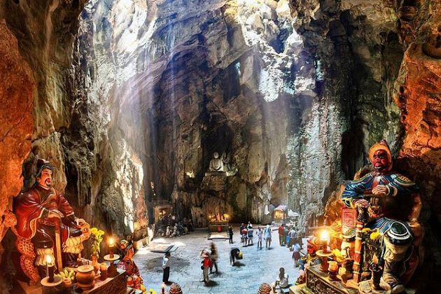 the marble mountain in danang central vietnam