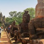 the statue before the south gate of angkor thom