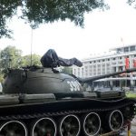 the tank at the reunification palace in ho chi minh city