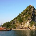 titov island and beach in halong bay