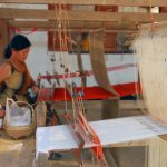 traditional weaving at ban phnom village