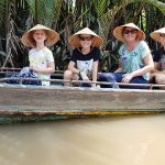 travel through canals at mekong delta with kids