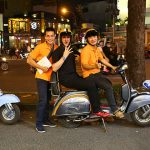 vespa tour after dark in Saigon