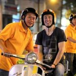 vespa tour in saigon after dark