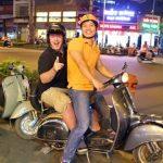 vespa tour in saigon city