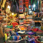 vibrant night market at siem reap