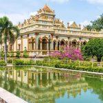 vinh trang pagoda in vinh long province mekong delta