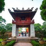 visit temple of literature in hanoi vietnam