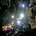 Discover the underground river of Dark cave