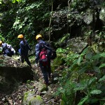 Trekking through Living valley