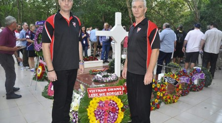 Australia veterans visit Long Tan cross