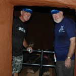 Two old Australian veterans discover the tunnels of Long Phuoc