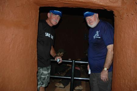 Two old Australian veterans visit Long Phuc Tunnel