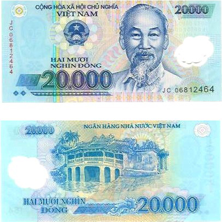Two sides of the same 20 000 VND