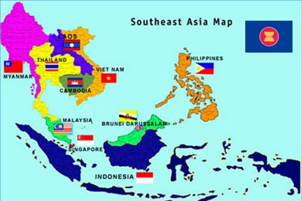 map of the southeast asia countries