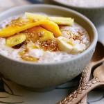 Bananas and Sago Pearls in Coconut Cream