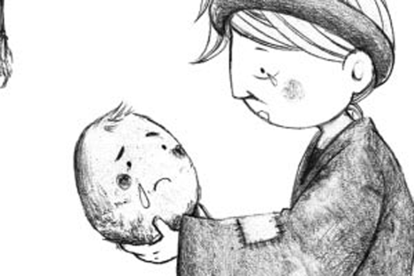 The poor woman gave birth to a ball of flesh with two eyes, two ears, a nose and a mouth, but neither body, nor legs, nor arms