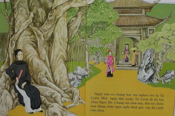 Tu Uyen was going to reply to it with a poem when a very beautiful young girl surrounded by her attendants, appeared at the end of the lane