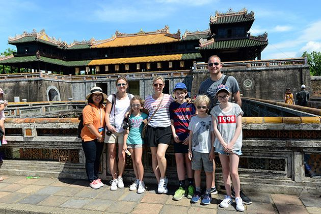 family trips to vietnam at hue imperial city