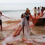 fishermen at fishing village
