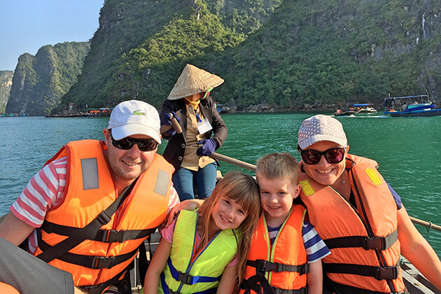 halong bay family adventure