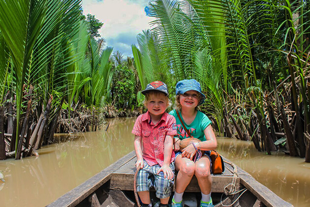 mekong delta boat trip with kids