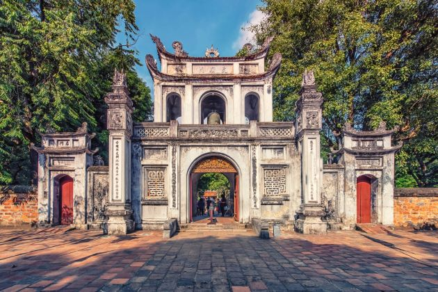 temple of literature Influence of Confucianismon Traditional Vietnamese Architecture