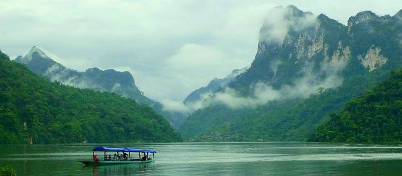 visit ba be lake on north east vietnam tours