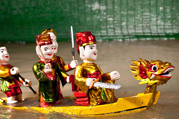 water puppet show of hanoi family tour