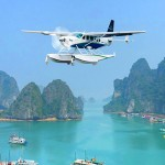 A Hai Au seaplane takes a tour around majestic Ha Long Bay