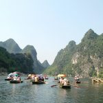 Boat trip along majestic landscape of Van Long Nature Reserve
