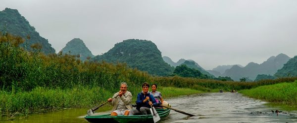 Boat trip in Van Long Wetland Nature Reserve