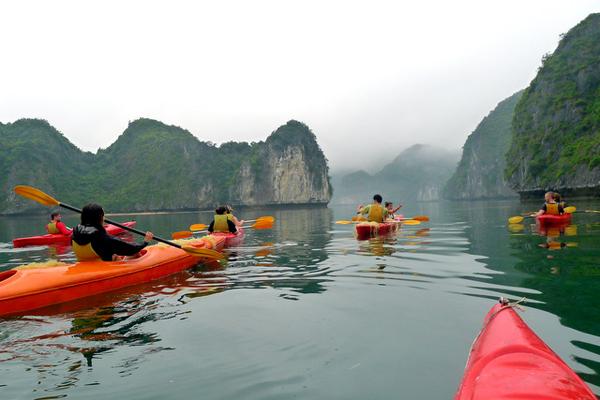 Kayaking among the majestic bay