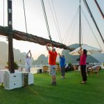 Morning Tai Chi on Halong Bay