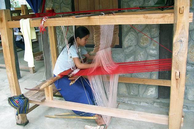 Ban Phanom village of traditional weaving in Luang Prabang