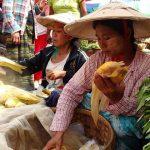 Nyang Oo local market in myanmar