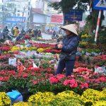 a Flower Market in hanoi