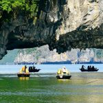 join in a boat trip to luon cave in halong bay
