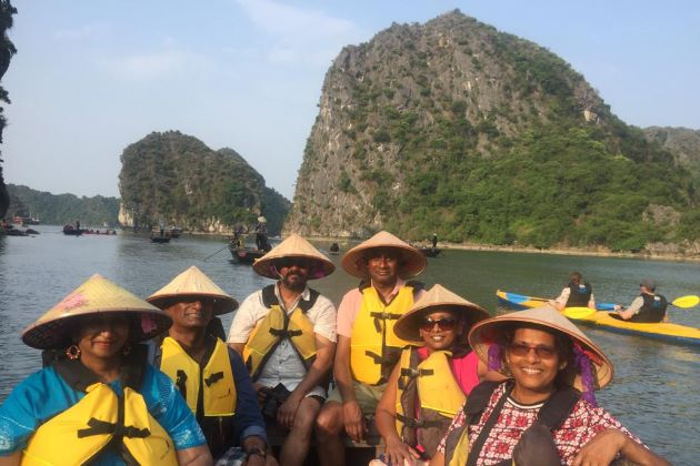 visit halong bay on a boat trip