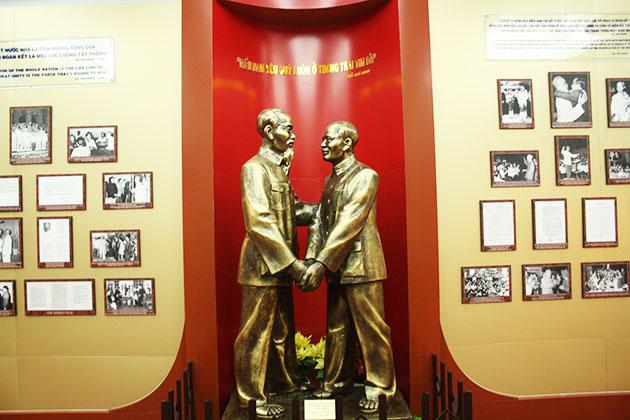A corner displaying the life of Ho Chi Minh