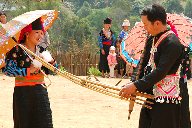 Bamboo flute-a traditional instrument of H'mong people