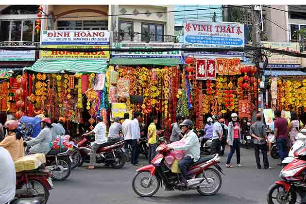 China Town in Ho Chi Minh City of Vietnam