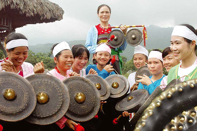Gong-a traditional instrument of Muong people