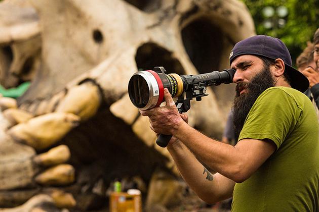 Jordan Charles Vogt-Roberts filming Kong Skull Island