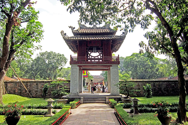 Pavillion of Constellation at Temple of Literature one of the symbols of Hanoi