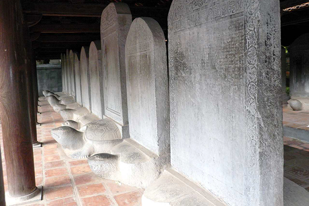 Stone steles in the temple