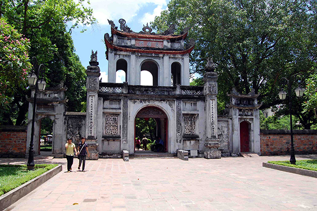 The entrance gate of Temple of Literature